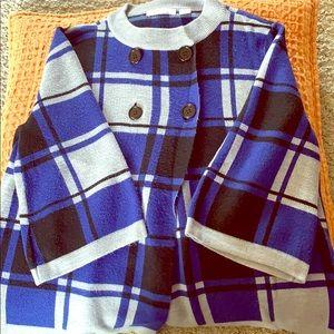 Retro inspired cape sweater